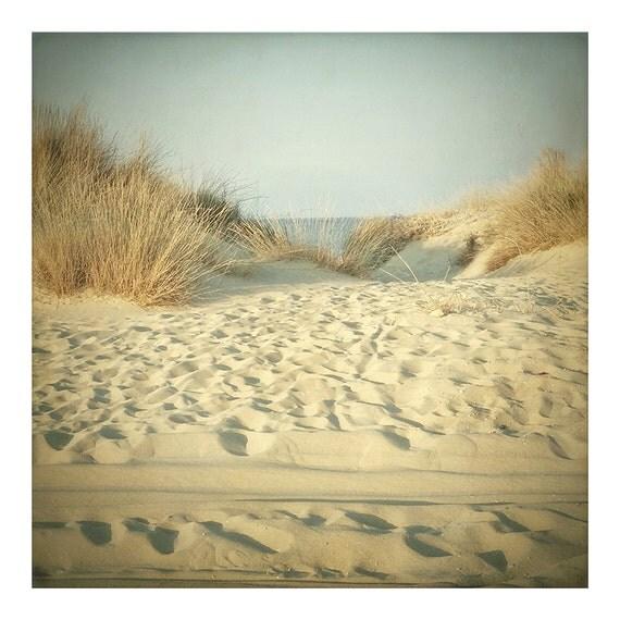 Far away,  6x6 fine art print, dreamy nostalgic beach art photography print