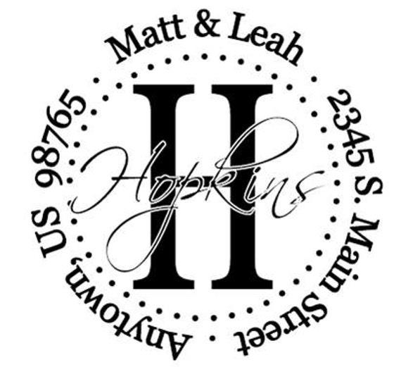 Self Inking Address Stamp - Style: Hopkins