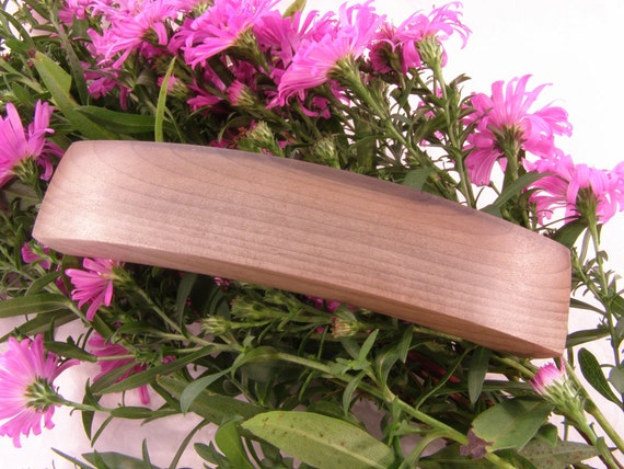 Large Hair Clip, Oregon-Myrtlewood, lifetime guarantee, wooden hair accessory, wood barrette, brown jewelry