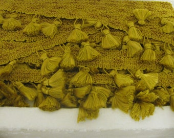 Vintage Gold Tassel Trim - Victorian Style trim for Drapery, Upholstery, Pillows and Crafts sold by the yard
