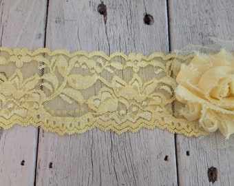 Wide Stretch Lace YELLOW no. 399-2 inch -2 yards for 2.99