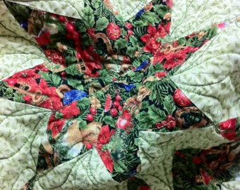 Quilt Star of Bethlehem Quilt Modern Reproduction One of A Kind Free Shipping