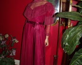 Vintage Victorian style Dance Allure Dress  Evening Holiday Burgundy  Dress Size N/A