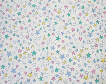 Stars on White Fabric-- ONE and ONE-THIRD yard