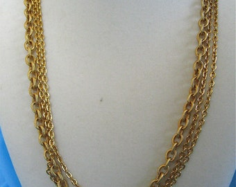 ON SALE was 29.99 Vintage Gold Chain Necklace