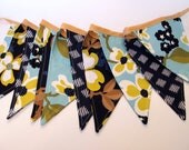Blue Floral Party Bunting