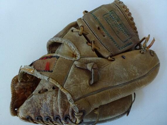 Vintage Baseball Glove Geo A Reach Richie Ashburn A Reach Design Double Trap