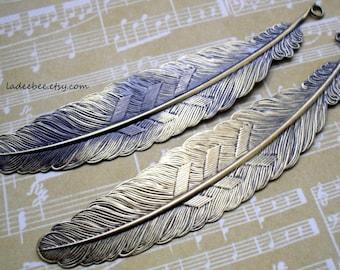 Pendants - Two Large Feather Pendants