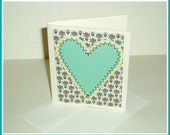 all occassion note card - aqua heart