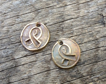 Bronze Cancer Awareness Charms