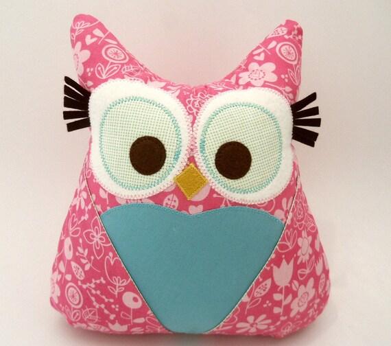 Owl Pillow Plush- Stuffed owl toy- secret tooth fairy pocket