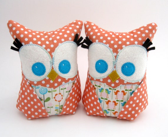 Pair of Owl Bookends, Doorstops, Paperweights