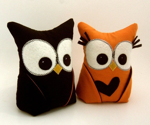 Pair of Owl Bookends, Halloween, Doorstops, Paperweights