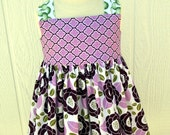 SALE...LAST 2 Lilac Bloom Reverse Knot Dresses Available...Ready to Ship...by Kissing Kumquats
