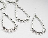 14pcs Oxidized Silver Tone Base Metal Earring Findings-44x25mm (26482Y-O-176A)