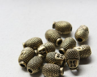 12pcs Antique Brass Tone Base Metal Spacer - Buddha 13x9mm (14587Y-E-306)
