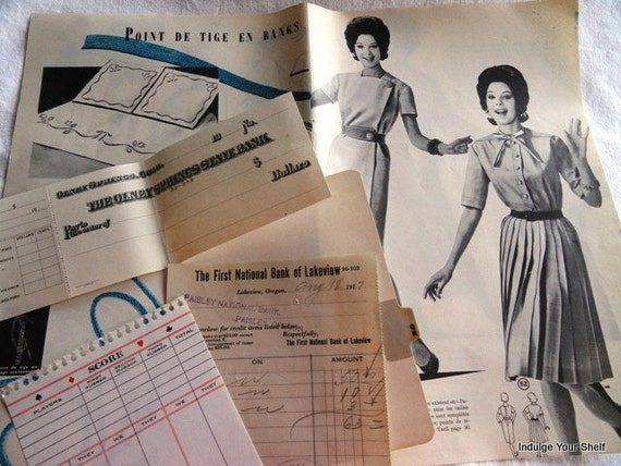 Vintage Ephemera Pack, 30 pieces, antiques, studio photo, handwritten WWI letter page - Introductory Pricing