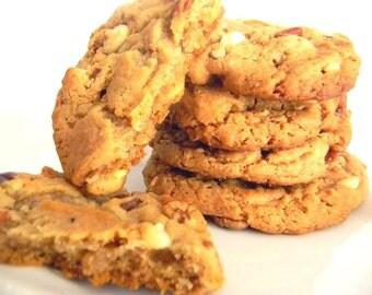 White Chocolate, Pecan, Caramel Cookies - HALF DOZEN (6 cookies)