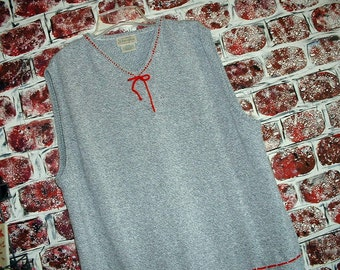 "Heather Gray/Grey & Red Jumper from ""Pretty in Plus"" Size XL"
