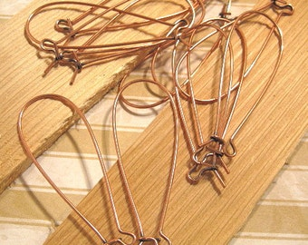 Long Kidney Ear Wires from Nunn Design in Antique Copper - 6 Count