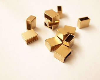 10 piece of newly made thick brass tube flat rectangular shape box cube 10x4.5x8 mm
