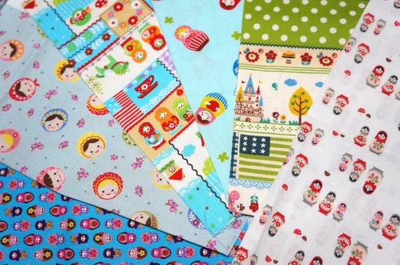 Matryoshka Fabric Scrap  XX2