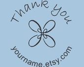 Custom Self -Inking Thank you stamp with your shop name -  Design R310-001