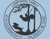 Custom Self Inking Stamp Lampshire Family Design R400-008