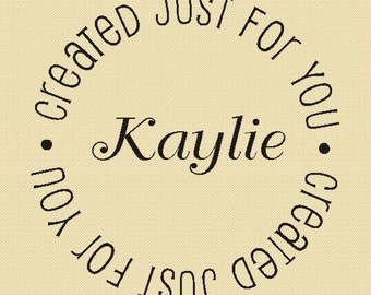 Custom Rubber Stamp Created Just for You Label Stamp Design R009
