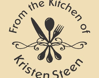 From the Kitchen of Kristen Steen Custom Rubber Stamp Design R051