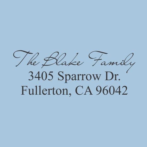 Custom Return Address Stamp Self Inking The Blake Family  Design 200-004
