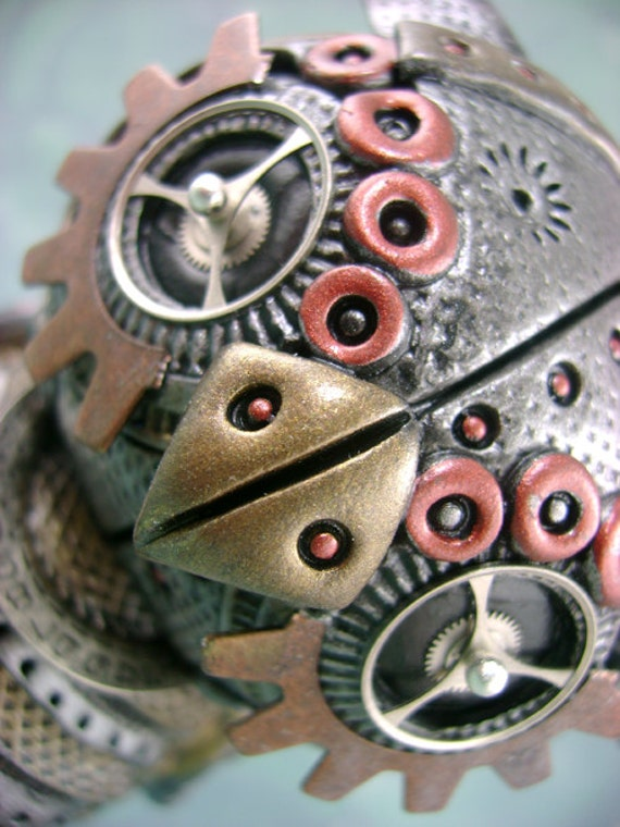 The Original SURPRISE Limited Edition MechOwlie Figurine / Sculpture - Industrial Steampunk Owl
