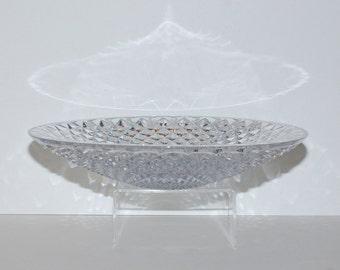 Vintage Large German Crystal Diamond Point Centerpiece Bowl