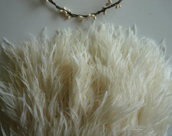 VOGUE OSTRICH FRINGE Corn Silk, Cream / 3ply / 303/ On Sale
