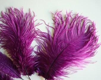 VOGUE OSTRICH PLUMES , Grape Purple, Magenta  / 545