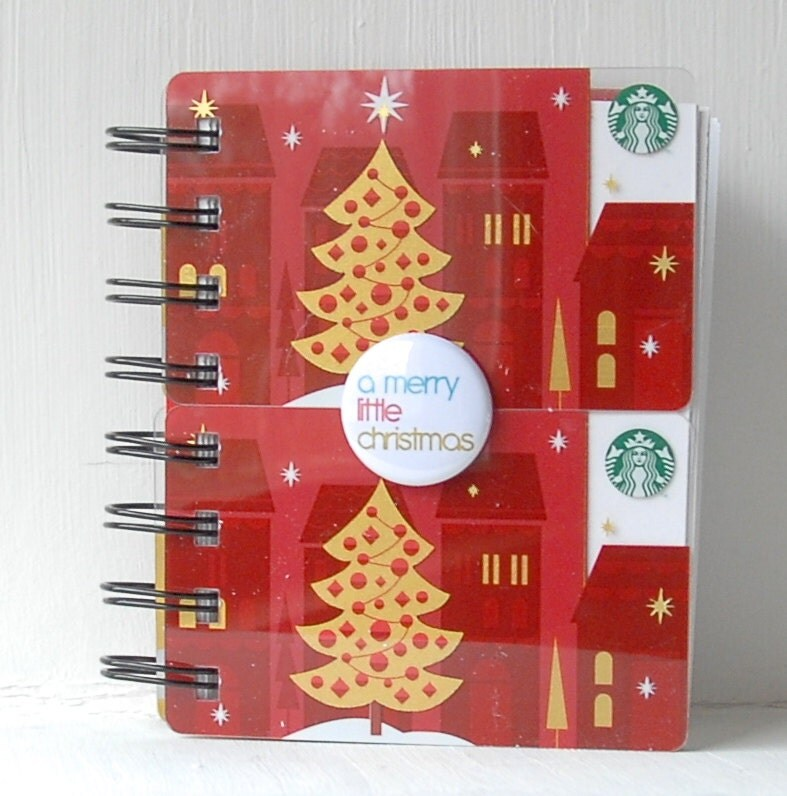 STARBUCKS HOLIDAY CHRISTMAS Large Notebook with gift card