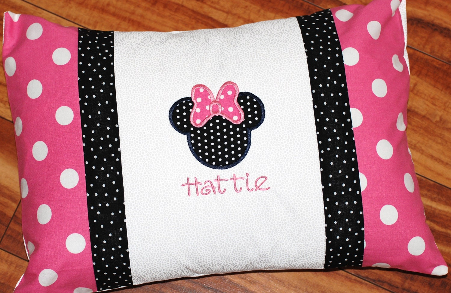 Pillow Case Designs For Baby Boy: Girls or boys personalized Minnie or mickey Mouse pillowcase,