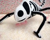 Skelemeleon Posable Art Toy Soft Sculpture Halloween Home Decor