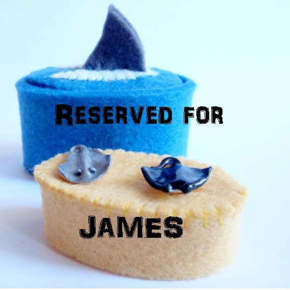 Reserved Listing for James - Manta and Sting Ray Cufflinks - Schickie Mickie Custom Order - 100% Handmade