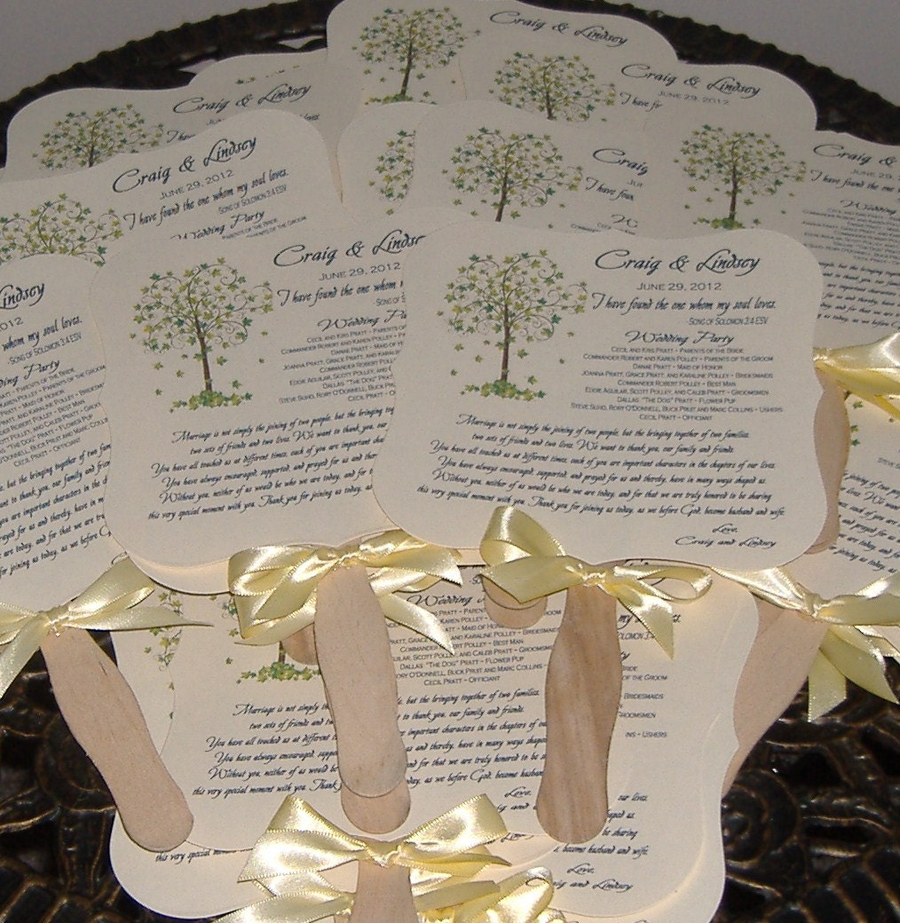 Life Of Lorin Our Wedding Tree: Wedding Fans Wedding Fan Program Tree Of Life Wedding Tree