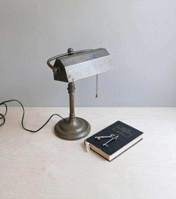 classic bronze banker's desk lamp