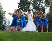 Bridal Flower Fascinator, Bridesmaids Hair Accessories, Royal Blue Flower Hair Clip,Bridesmaids Fascinators