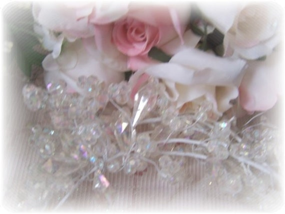 Crystal Clear Chic BEADED GARLAND Decorate a Wreath, your Home or for your Wedding Decorations