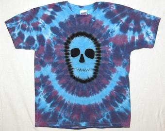 Tie Dye Shirt, Zombie Skull Tie Dye T Shirt, Youth XL
