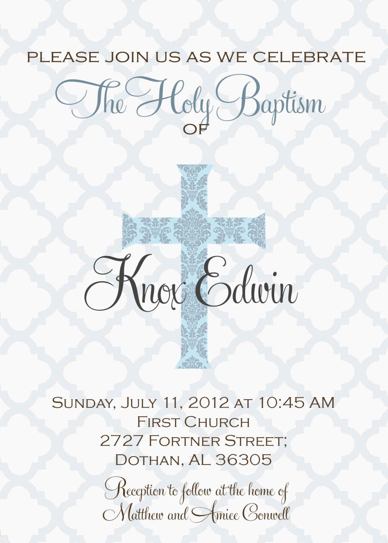 Baptism Invites Wording as luxury invitations design