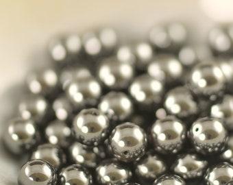 6mm round Hematite beads (72)