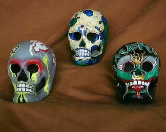 Day of the Dead Skulls Urban Series set of 3
