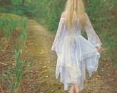 Fairy Medieval Fantasy Shorter Wedding Dress Jagged Skirt Custom