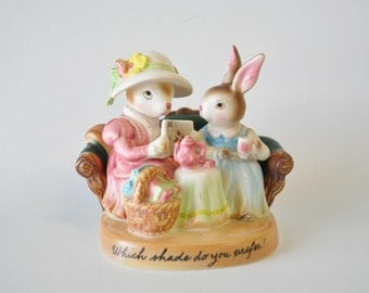 Vintage Avon The Precious Moments Collection Porcelain Rabbit Figurine