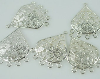 Sterling Silver Chandelier Pieces (pair)